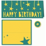 happy birthday folded card for #10 envelope