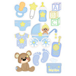 baby boy matching planner stickers