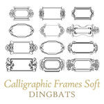 calligraphic frames soft