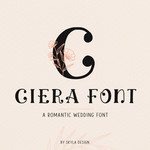 ciera romantic wedding font