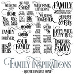 family inspirations font