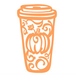 coffee cup with pumpkin