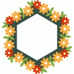flower hexagon frame