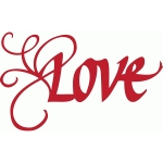 love with a flourish – italic calligraphy