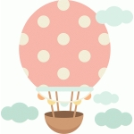 hot air balloon polka dot
