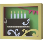 5x7 happy birthday shadow box card