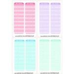 pastel daily routine checklists