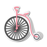 vintage unicycle shaped card
