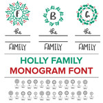 holly family monogram font