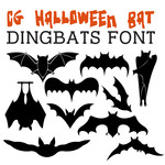 cg halloween bat dingbats