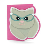 cat with glasses card