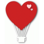love heart hot air balloon