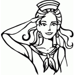 retro sailor girl