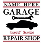 custom garage repair sign