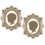 baby silhouettes in mini frames