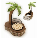 palm tree 3d nut cup place card