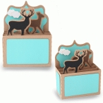 rectangle box card-deer