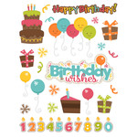 birthday wishes planner sticker set