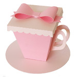 teacup box with bow