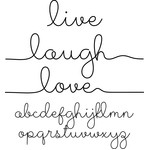 live, laugh, love font