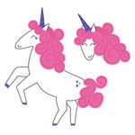 dancing pink unicorn
