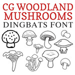 cg woodland mushrooms dingbats