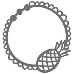 pineapple doily monogram frame