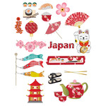 japan-themed planner stickers