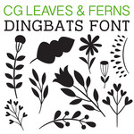 cg leaves and ferns dingbats