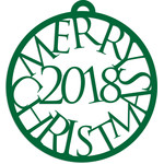 merry christmas 2018 bauble decoration