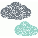 fancy flourish clouds