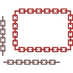 chain link frame - borders set