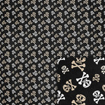 pirate skulls background paper