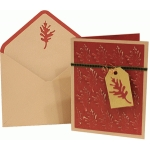 card envelope set: pop-up oak leaves