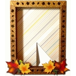 fall leaves 3d 4x6 frame
