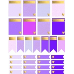 pretty purple and gold planner stickers