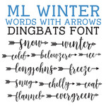 ml winter words with arrows dingbats