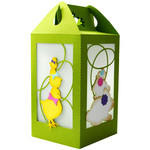 easter layered chick & bunnies lantern