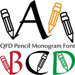 qfd pencil monogram font