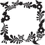 floral butterfly frame