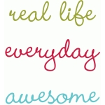 real life, everyday & awesome