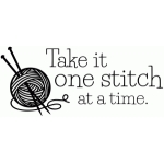 one stitch at a time quote