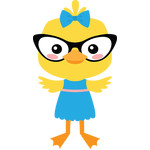 duckling with glasses