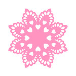 doily with hearts
