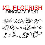 ml flourish dingbats