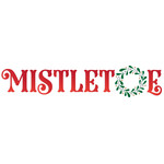 mistletoe holiday christmas wreath wording