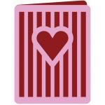 heart stripes card