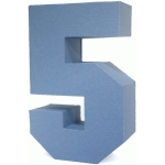 3d square number block 5