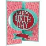 happy birthday flip swing card