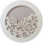 flowers layer round card